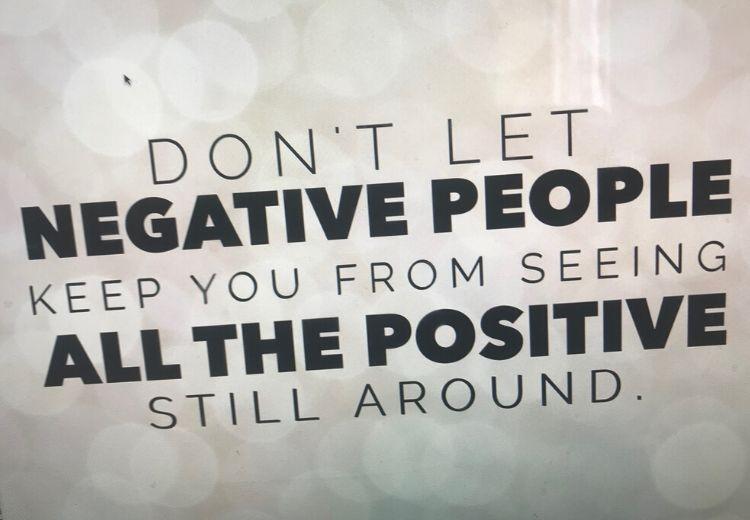 2. Negative People